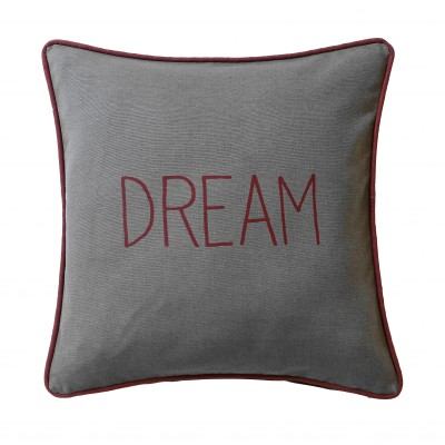 Housse de coussin Dream & Happy - lot de 2 Gris: Vue 1