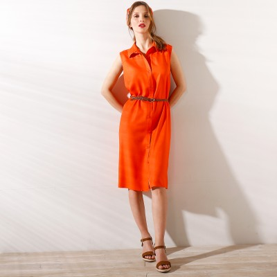 Robe chemisier Orange: Vue 1