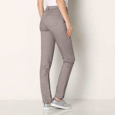 Pantalon stretch coutures affinantes Gris: Vue 1