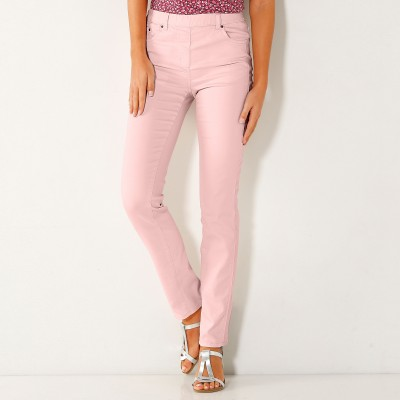 Pantalon stretch coutures affinantes Rose grisé: Vue 1