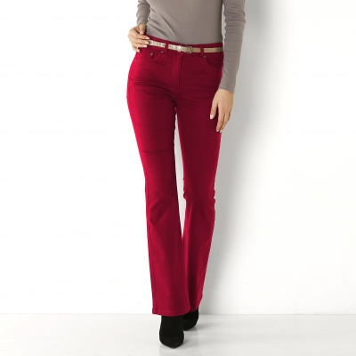 Pantalon bootcut stretch Bordeaux: Vue 1