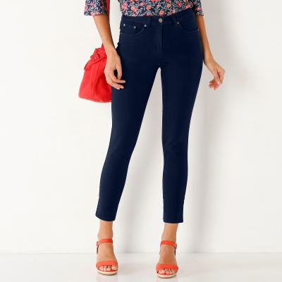 Pantalon 7/8 bi-stretch couleur Marine: Vue 1