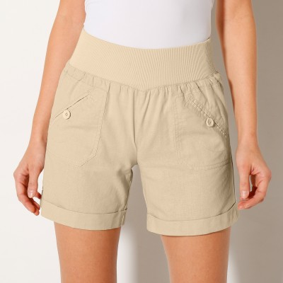Short coton lin Naturel: Vue 1