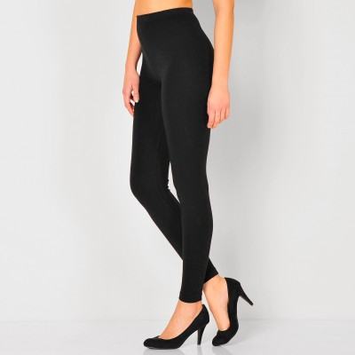Legging stretch uni Noir: Vue 1