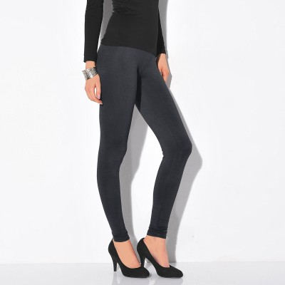 Legging stretch uni Anthracite: Vue 1