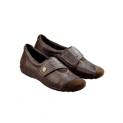 Derbies en cuir souple Marron: Vue 1