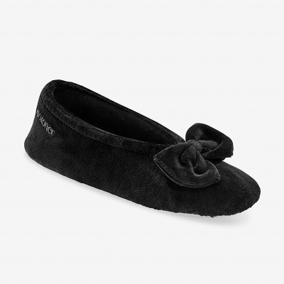 Ballerines unies velours Noir: Vue 1