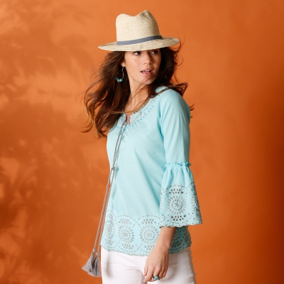 Blouse en broderie anglaise