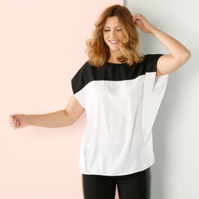 Blouse colorblock  -