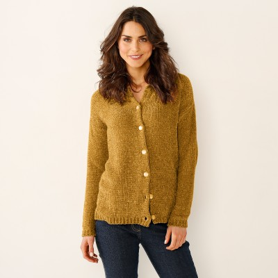Cardigan maille chenille Miel: Vue 1