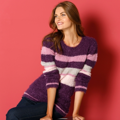 Pull jacquard maille douceur