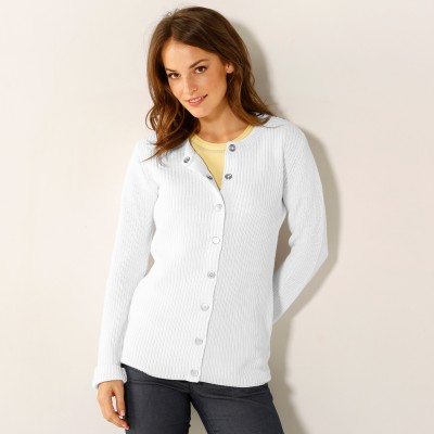 Gilet maille anglaise Blanc: Vue 1