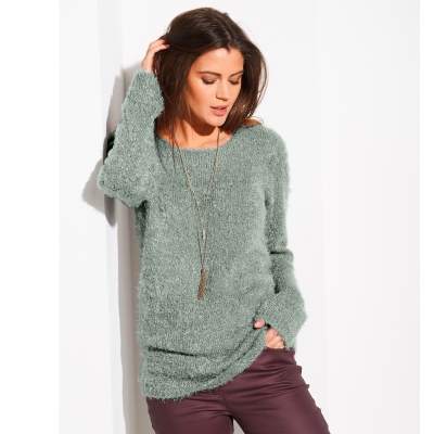 Pull col rond maille douceur Bronze: Vue 1