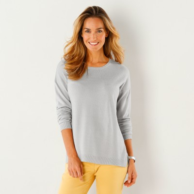 Pull col rond Gris perle: Vue 1