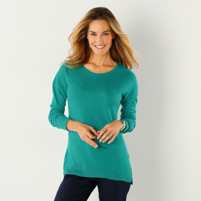 Pull col rond Menthe: Vue 1