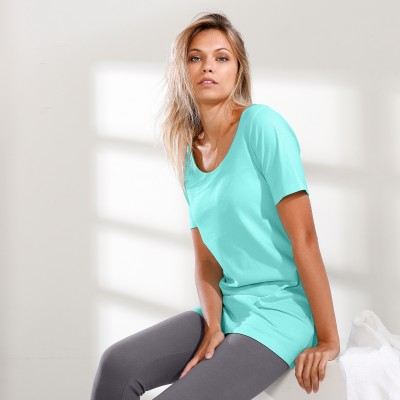 Tee-shirt long Aqua: Vue 1