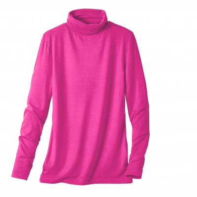Sous-pull stretch viscose Rose fuchsia: Vue 1