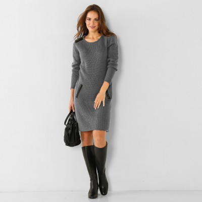 Robe pull Gris: Vue 1