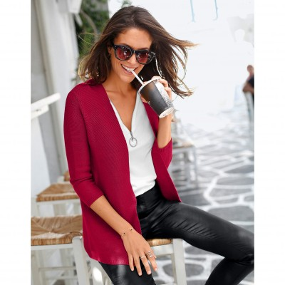 Gilet manches 3/4 Rouge: Vue 1