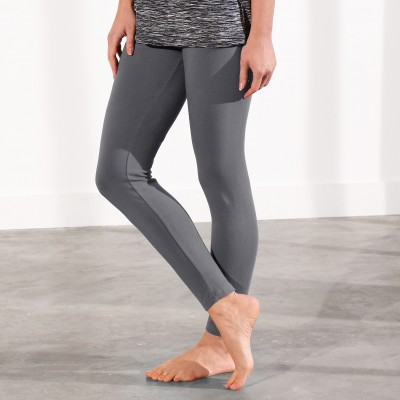 Legging coton extensible uni Anthracite: Vue 1