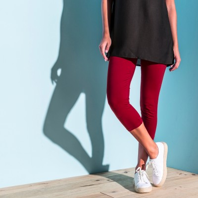 Legging 3/4 uni - lot de 2 Rouge / noir: Vue 1