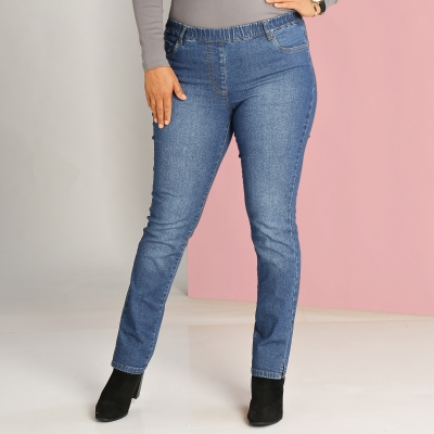 Jegging denim délavé power stretch Stone: Vue 1