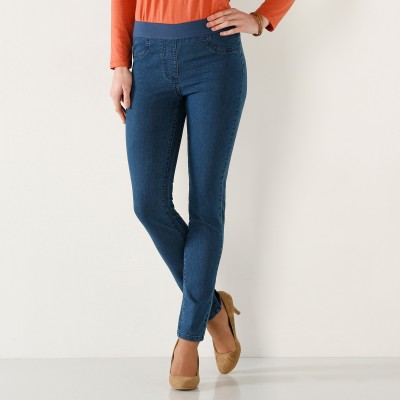 Jegging denim grande stature Stone: Vue 1