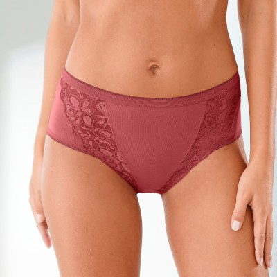 Culotte maxi dentelle - lot de 3 Kaki + rose + terracotta: Vue 1