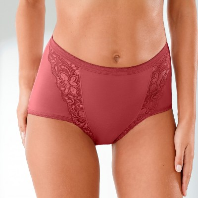 Culotte super maxi dentelle - lot de 3 Kaki + rose + terracotta: Vue 1