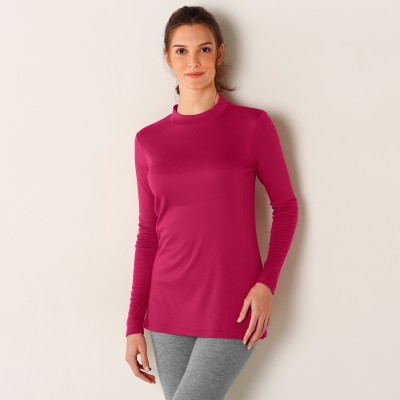 Tee-shirt thermique col montant - manches longues Fuchsia: Vue 1