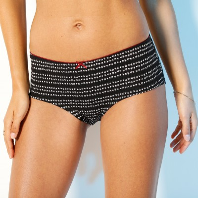 "Shorty coton imprimé ""feuilles"" - lot de 4"