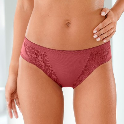 Culotte midi dentelle - lot de 3 Kaki + rose + terracotta: Vue 1