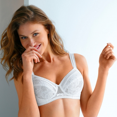 Soutien-gorge Montsouris grand maintien Montsouris - sans armatures Blanc: Vue 1