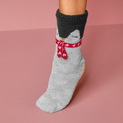 Chaussons-chaussettes cocooning - pingouin