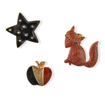 Broche fantaisie - lot de 3 Multicolore: Vue 1