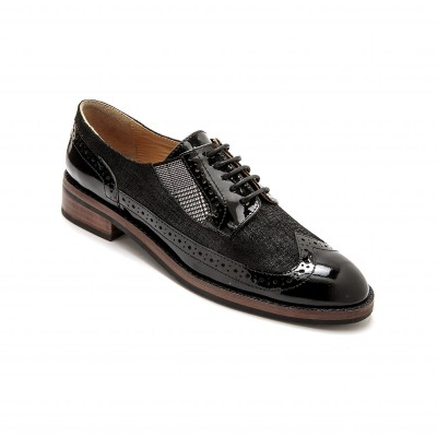 Derbies lacés en cuir - largeur confort