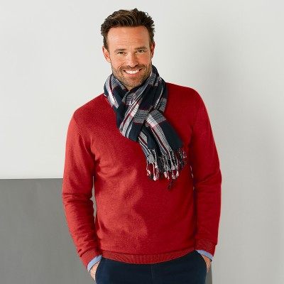 Pull uni col rond Rouge: Vue 1