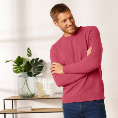 Pull col rond 80% laine Pourpre: Vue 1