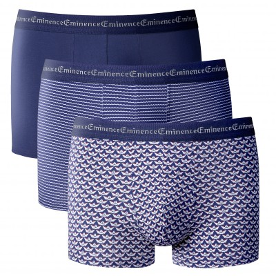 "Boxer ""Business Print"" Éminence® - lot de 3 Bleu: Vue 1"