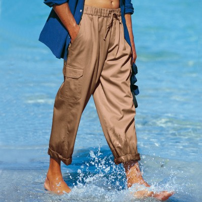 Pantalon cargo multipoches Sable: Vue 1