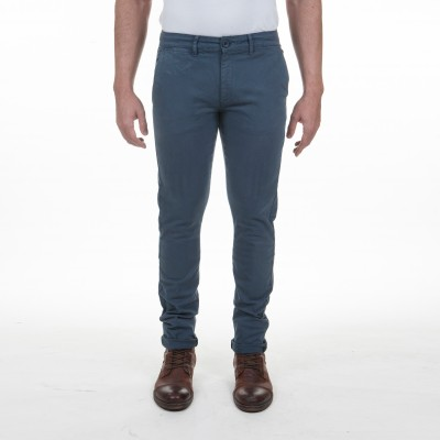 Pantalon gabardine stretch coupe chino marine Fibreflex