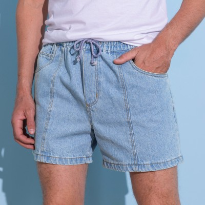 Short denim Bleached: Vue 1