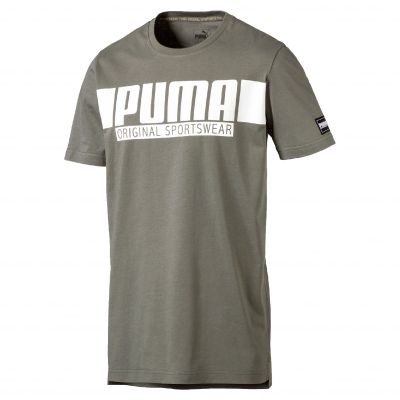 Tee-shirt manches courtes Style Athletics Graphic de Puma® Kaki: Vue 1