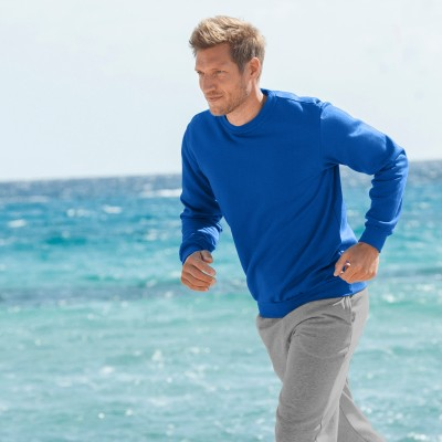Sweat molleton col rond Bleu roy: Vue 1