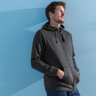 Sweat molleton zippé à capuche Anthracite: Vue 1