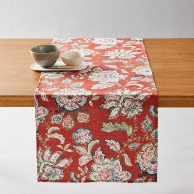 Nappe antitaches motifs Perse Terracotta: Vue 2