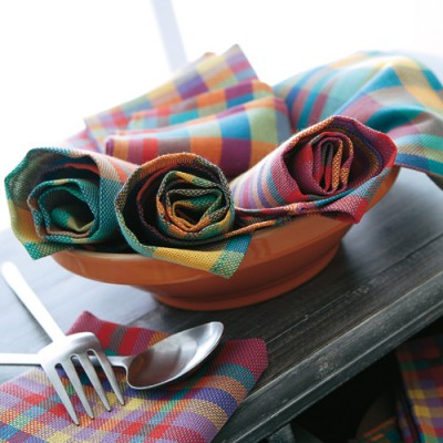 Serviette de table Madras - Lots Madras: Vue 2