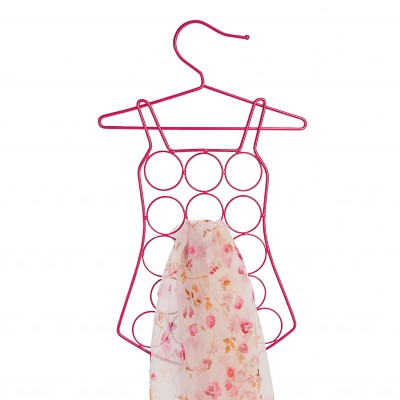 Cintre porte-foulards forme robe Rose: Vue 2