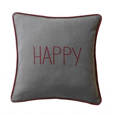 Housse de coussin Dream & Happy - lot de 2 Gris: Vue 2