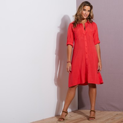 Robe-chemise - rouge Rouge: Vue 2